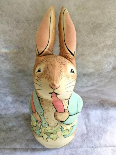 Beatrix Potter Peter Rabbit Printed Fabric Doorstop Nursery The Toy Works 1991