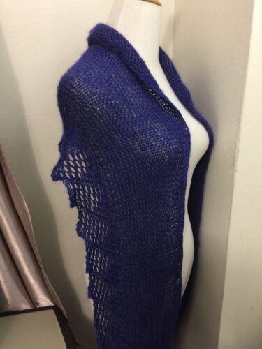 Handknit silk/cotton/mohair blend WRAP/SHAWL/SCARF
