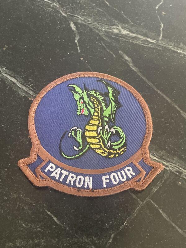 "Patron Four VP-4 USN Navy Tactical morale US patch Velkro Rare 4"" Anti Sub"