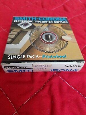 Smith Corona Printwheel 346 Script Electronic Typewriter Single Pack New