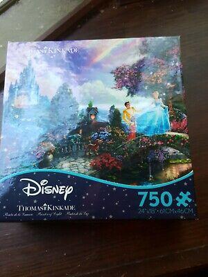 New Thomas Kinkade Disney Cinderella Puzzle 750 Piece Never Opened Sealed
