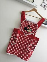 Authentic Disney Minnie Mouse red kitchen apron Chatswood Willoughby Area Preview