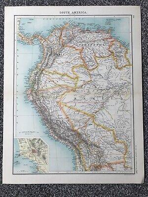 """Retro """"South America - Section I"""" Map (35 X 45cm)"""