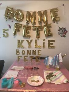 Decoration fete licorne