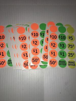 360 Preprice Yard Garage Sale Rummage Price Tag Sticker Labels Blank Flea Market