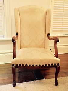 Pair of Antique Georgian Wing-back Chairs, c. 1820