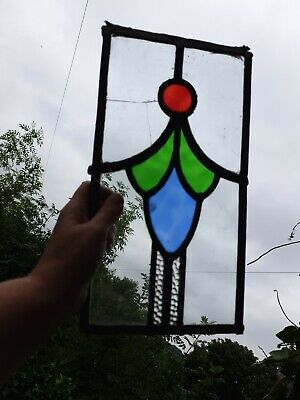 Old piece of stained glass (1 piece cracked)