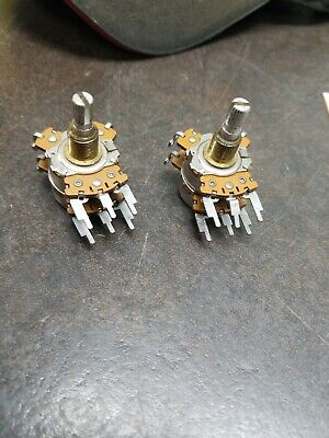 2 X 1966 Vintage Dual Audio Taper 500k... Stackpole
