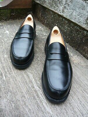 JOHN LOBB LOAFERS – BLACK LIEGEOIS CALF – UK 8.5 – CAMPUS – SUPERB CONDITION