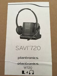 Plantronics Savi W720 3in1 Binaural Headset NEW