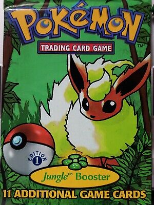Pokemon: TWO UNOPENED 1st EDITION Jungle Booster Packs