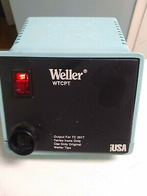 Weller Wtcpt Temp Control Base Station Power Suply Pu120t For Tc201t Solder Iron