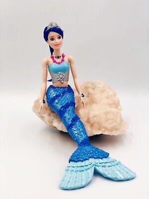 Dreamtopia Blue Tailed Mermaid Barbie Doll in Swarovski Crystals