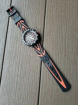 Swatch Flick Flak Swiss Made Watch. Red & Black. Adult Owned & in Mint Condition