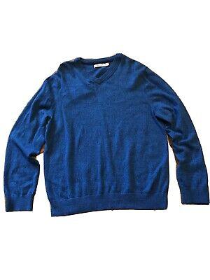 Mens Nautica Blue Sweater Size Large Long Sleeve V-neck