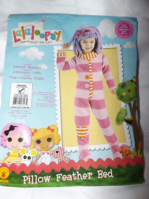 Lalaloopsy Pillow Costume (LALALOOPSY PILLOW FEATHER BED COSTUME JUMPSUIT HEADPIECE TODDLER 2-4)