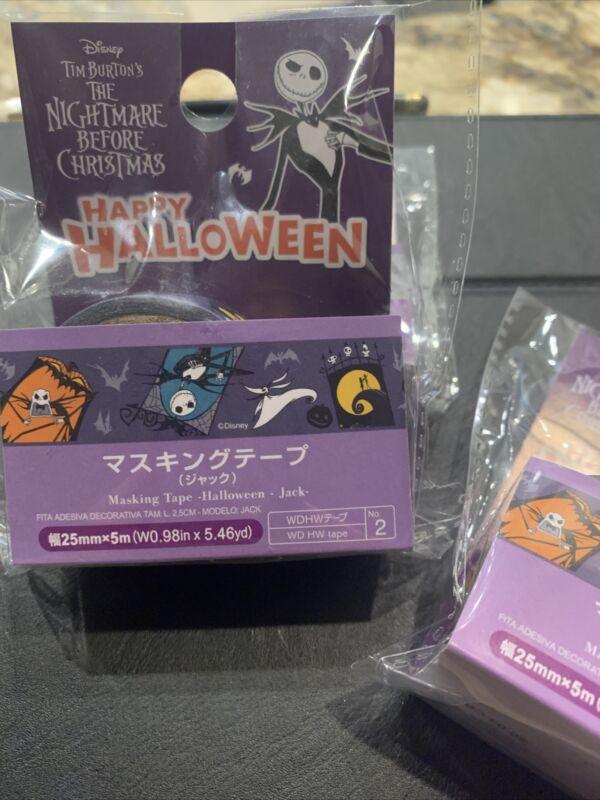 Daiso Disney Washi Tape: Halloween The Nightmare Before Christmas