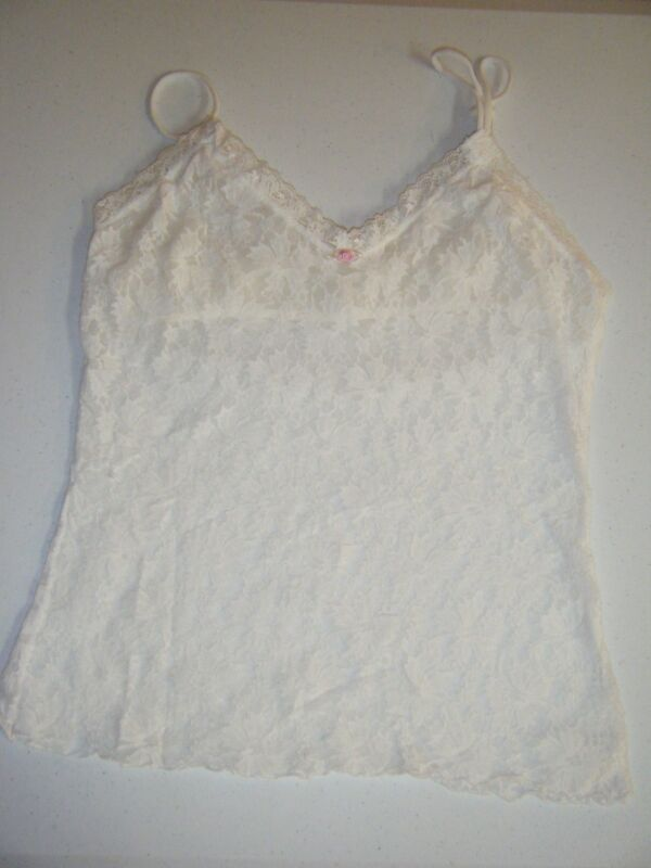 WHITE LACE CAMISOLE SMALL LINED WORN ONCE
