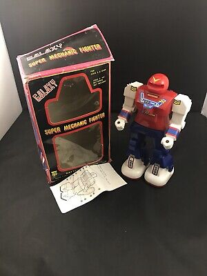 VTG Galaxy Super Mechanic Fighters Battery Operated Toy Robot With Box Tested (Boxing Fighter Robots Toy)