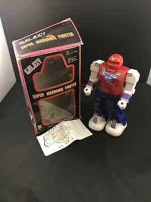 Boxing Fighter Robots Toy - VTG Galaxy Super Mechanic Fighters Battery Operated Toy Robot With Box Tested