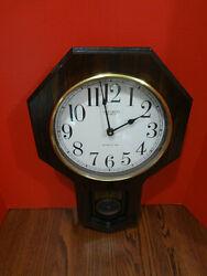 Vintage VERICHRON QUARTZ REGULATOR Clock w Westminser Chime VGC Works ~FAST S/H~