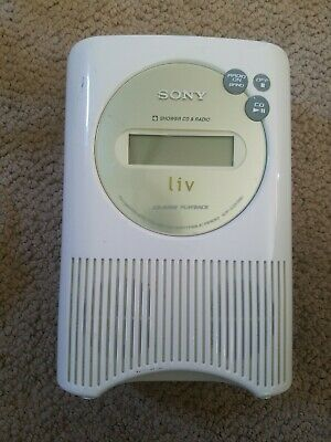 SONY liv ICF-CD73V Shower CD Clock Radio AM FM Weather Portable DC CD-R/RW box R