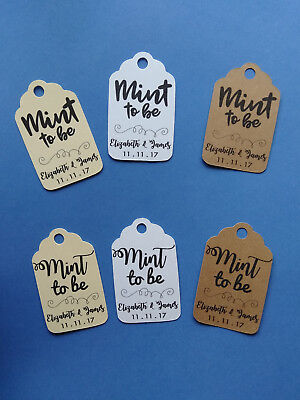 20 CUTE personalized Wedding favor tags! Mint to Be](Personalized Wedding Mints)