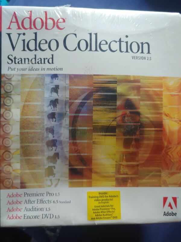 Adobe Video Collection Standard (V.2.5) includes Premiere Pro After Effects MORE