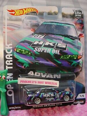 NISSAN SKYLINE GT-R #1☆black;purple;HKS☆2019 Hot Wheels OPEN TRACK Car Culture