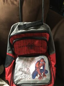 Spider-Man small rolling child suitcase/backpack