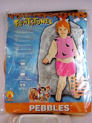 Girl Child Medium 8-10 Pebbles Flintstones Cartoon Costume Halloween Party](Baby Pebbles Costume)