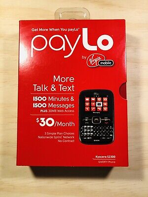 Kyocera Torino S2300 - Black (Virgin Mobile) Cellular Phone New No Contract