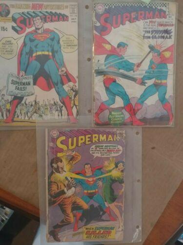 Superman Lot of 3 #196, 203, 240 DC Low Grade