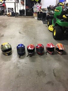 Motorcycle and dirt bike helmets