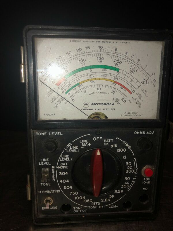 Vintage Motorola R-1034A Control Line Test Set Please Read Description Carefully