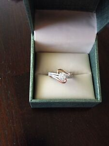 Beautiful pink and white gold ring