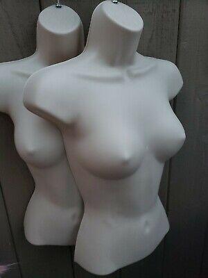 New - 2 Pieces Female Mannequin Form Hangermanikin Women Display -flesh
