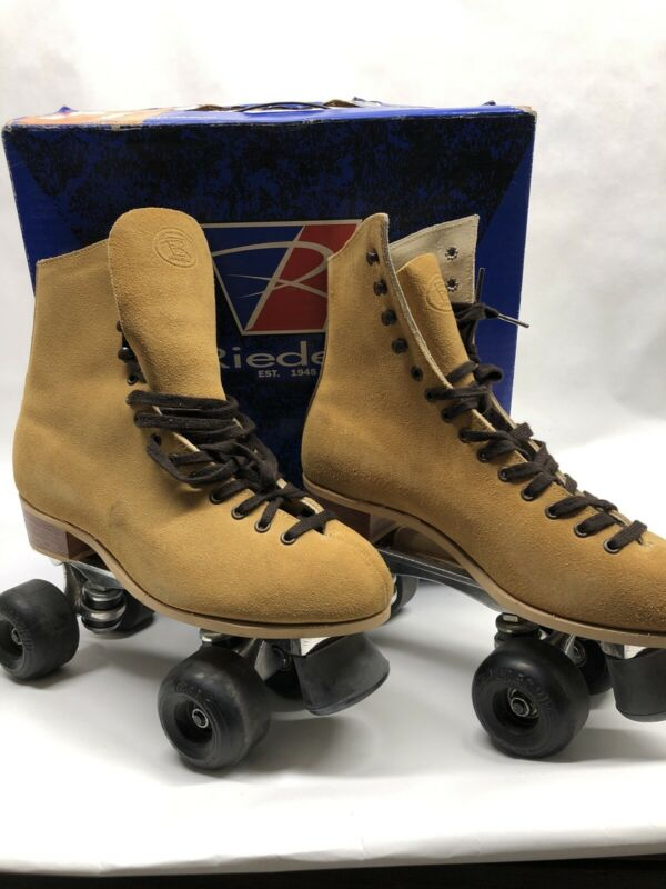 Riedell Red Wing 130 M Roller Skates Suede Sz 8 men's/ women 9-9.5.  Sure-Grip