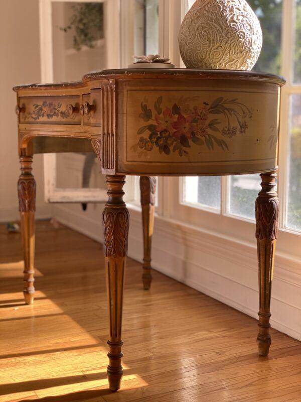 Hand Painted Antique Desk/vanity