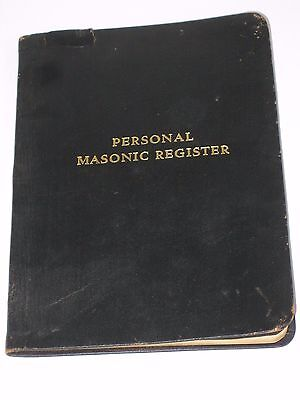 1919 Person Masonic Register St. Albans Vermont Lodge # 4 Free Shipping