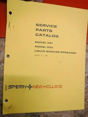 1980 New Holland Model 301 303 Liquid Manure Spreader Service Parts Catalog