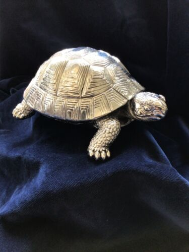 Tortoise 925 STERLING SILVER SCULPTURE / FIGURE/gifted