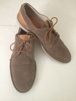 Clarks Hinton Fly Oxfords $120 Men's Khaki Lace Up Casual Shoes Size US 11 Brown