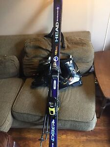 160cm skis, boots and poles