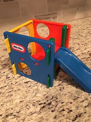 LITTLE TIKES VINTAGE DOLLHOUSE BACKYARD/PLAY GYM/CUBE DOLL FURNITURE , used for sale  Saint Clair