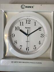 Advance Quartz Decorative Wall Clock Model No. 8001 Batteries Included NIB