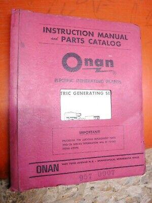 1981 Onan Cck Series Genset Factory Parts Catalog Operators Manual 957-0302