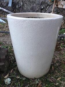 Glazed planter pot.   large, beautiful crazy glaze. Arcadia Hornsby Area Preview