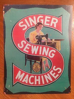 Tin Sign Vintage Singer Sewing Machines