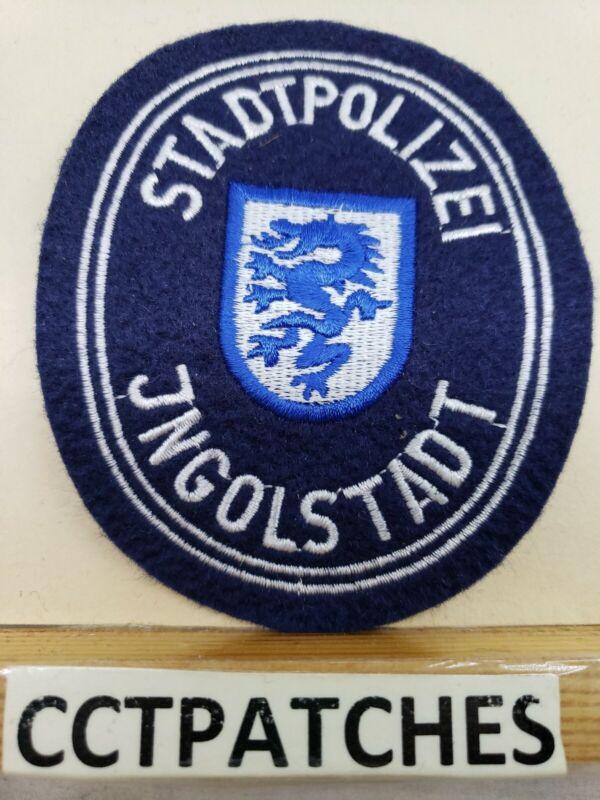 JNGOLSTADT GERMAN STADTPOLIZEI POLICE GERMANY FELT SHOULDER PATCH
